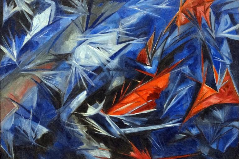 Rayonist Sea by Natalia Goncharova
