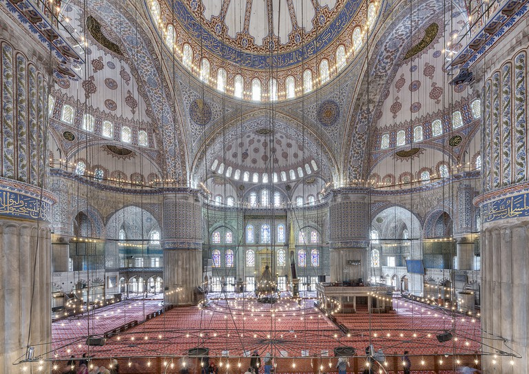 Interior view of The Blue Mosque,Istanbul,Turkey