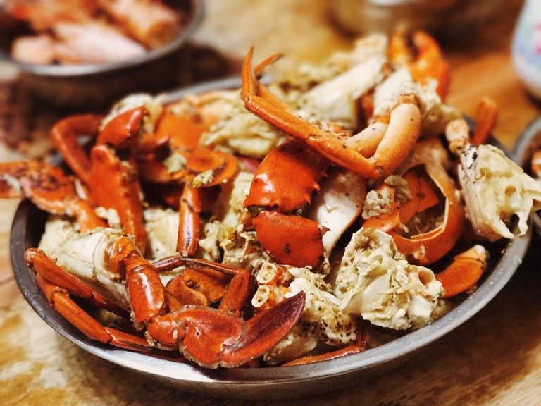 Close-Up Of Crab Legs