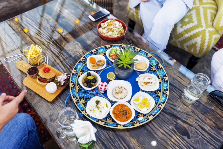 Traditional Middle Eastern food served alongside modern fusion in Dubai
