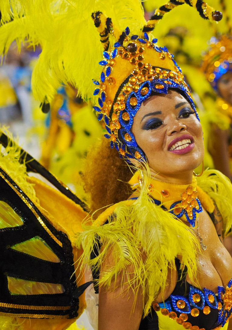 Samba Dancer in the Carnival Parade, Rio de Janeiro, Brazil
