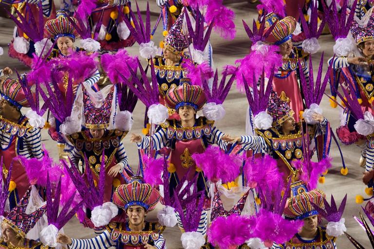 Samba school presentation in Sambodrome, Rio de Janeiro carnival, Brazil
