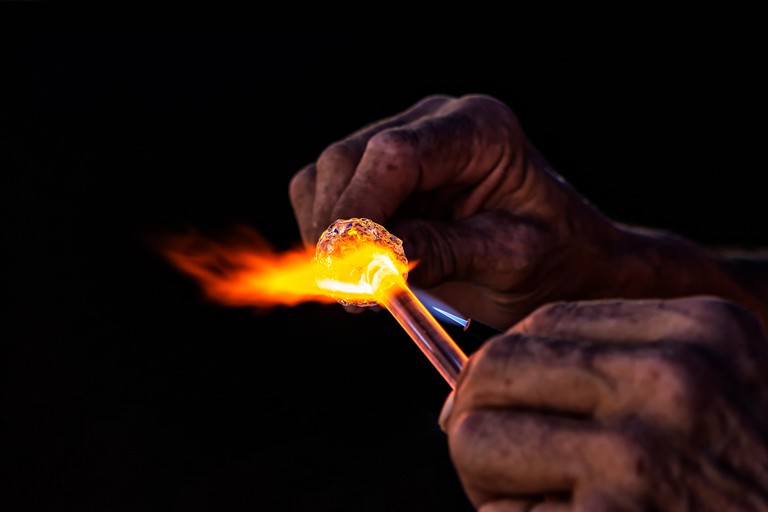 Glass blowing and working