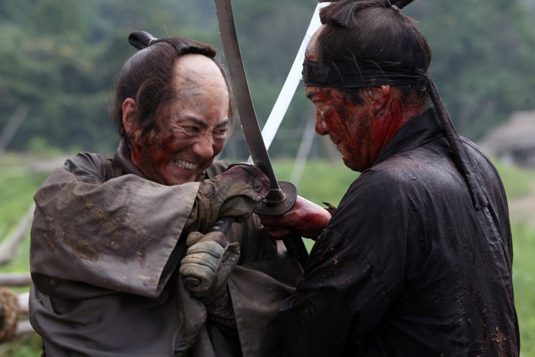 13 Assassins is a 2010 Japanese jidaigeki (period drama) film directed by Takashi Miike. The screenplay was written by Daisuke Tengan. The film is a remake of Eiichi Kudo's 1963 black-and-white Japanese film of the same name.This photograph is for edit