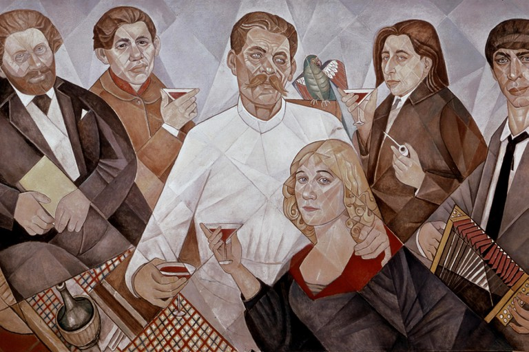 Marie 'Marevna' Vorobieff, 'Tribute to the Montparnasse Friends', 1962