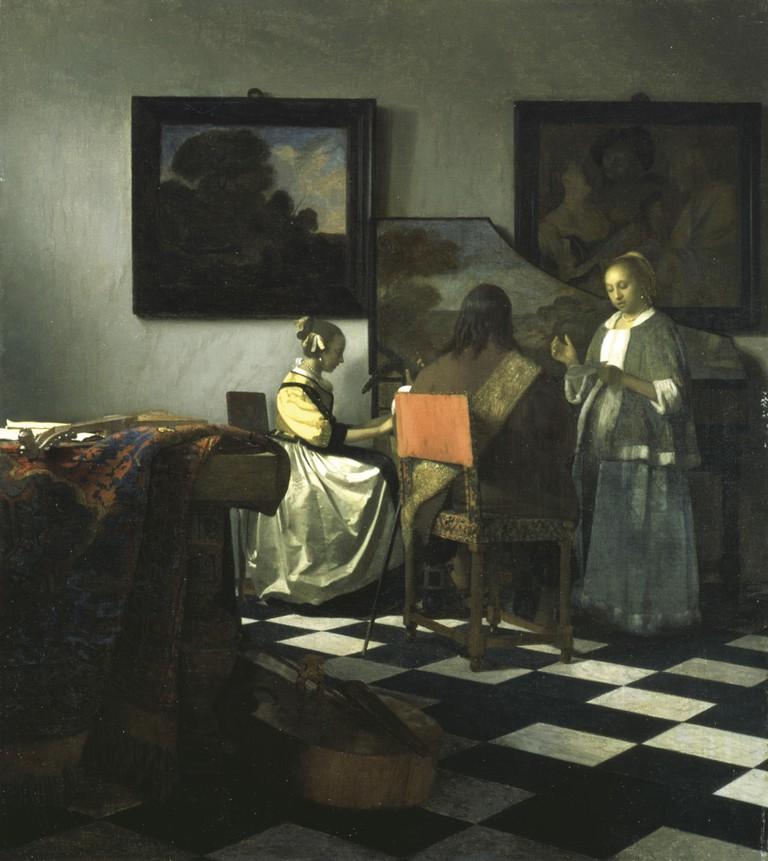 The Concert c. 1664–1666, by Vermeer