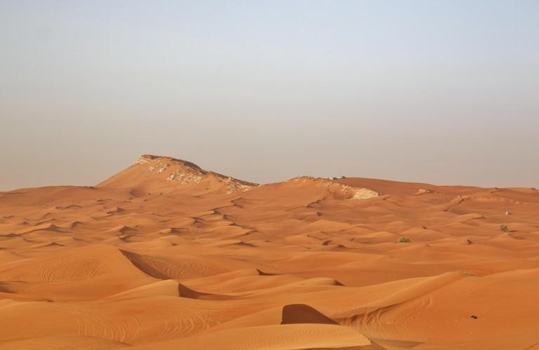 Red sand of desert near Dubai, United Arab Emirates