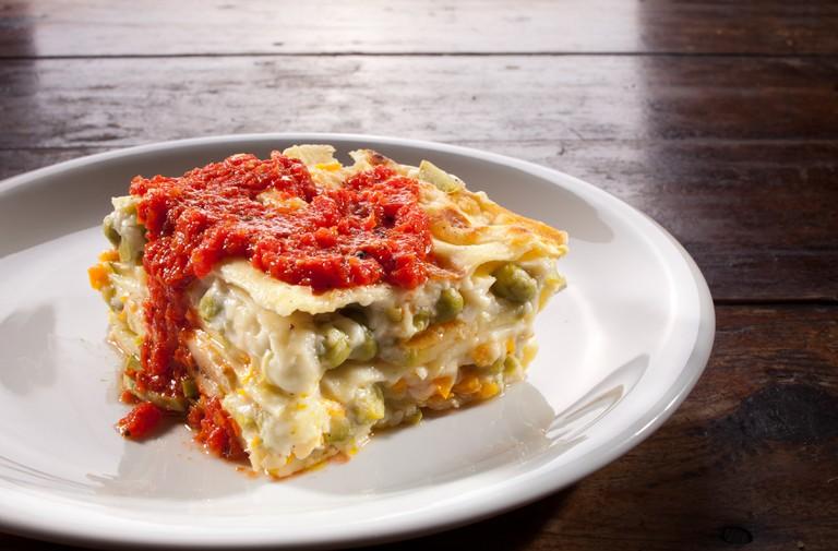 Vegetable lasagna at Zencefil.
