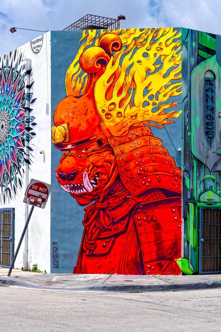 Graffiti Facade. Wynwood Art District. Miami. Florida. USA.