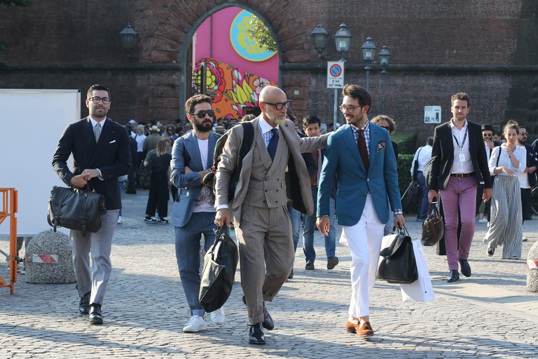 Firenze, Italy. 13th June, 2017. Event Pitti Immagine 92 at Fortezza da Basso. International event for menswear and men accessories collections and for the launch of new men fashion projects Credit: Carlo Giacomazza/Pacific Press/Alamy Live News