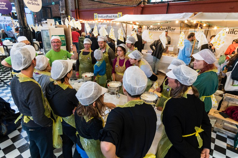 Food workshop at Markthalle 9, Berlin.
