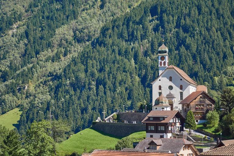 Wassen village and church