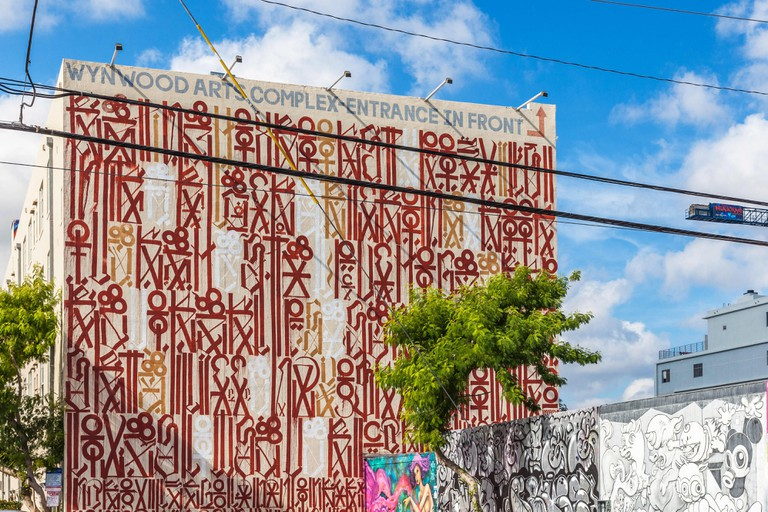 Rear view of the building of the Wynwood Art Complex, Miami, Florida, USA.