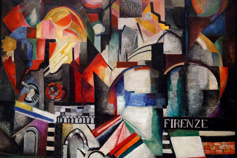 Alexandra Exter, Florence, 1914-1915, oil on canvas. Tretiakov National Gallery, Moskow. Shot while exhibited in Paris, France.