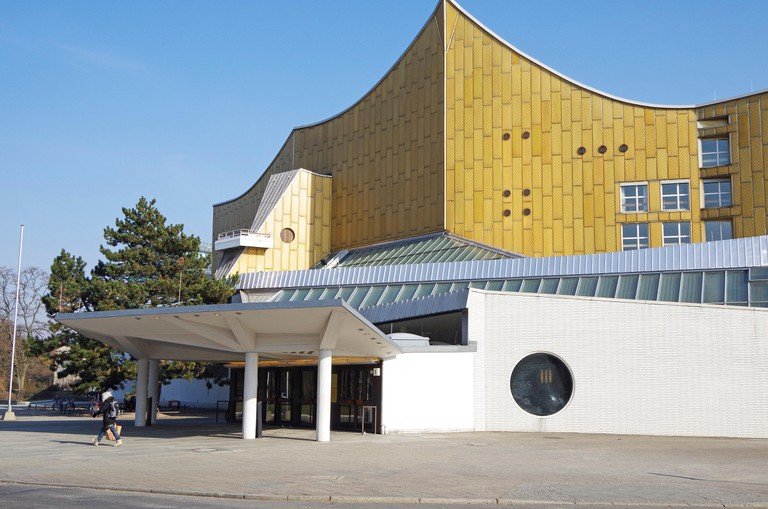 The Berliner Philharmonie concert hall, home to the Berlin Philharmonic Orchestra.