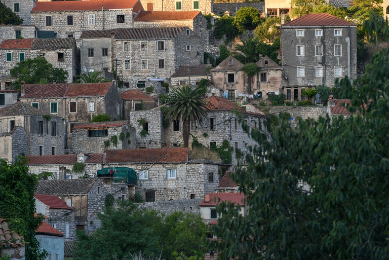 Houses in Lastovo, Croatia