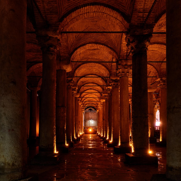 Basilica Cistern (Yerebatan Sarnici) an ancient underground water reservoir in Istanbul, Turkey