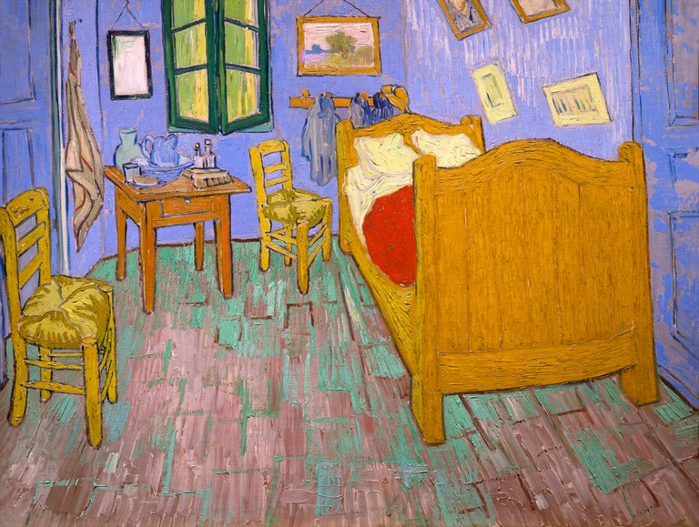 The Bedroom, Vincent van Gogh, 1889, Art Institute of Chicago, Chicago, Illinois, USA, North America,
