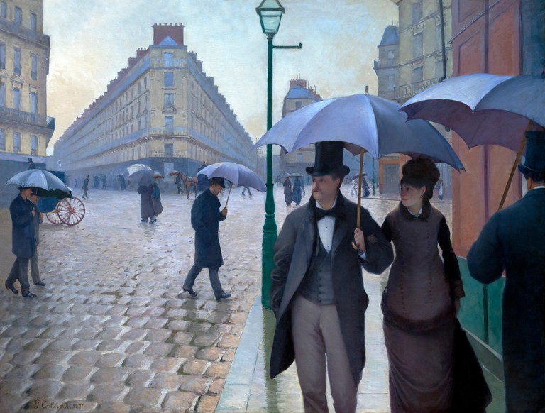 Paris Street, Rainy Day, Gustave Caillebotte, 1877, Art Institute of Chicago, Chicago, Illinois, USA, North America,