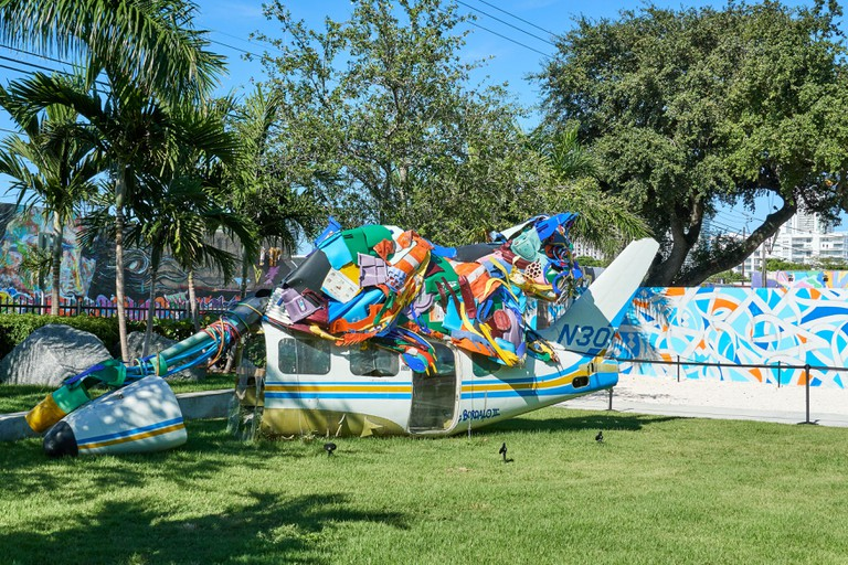 Wynwood Walls Miami graffiti. Wynwood is a neighborhood in Miami, Florida known for its graffiti and street art.
