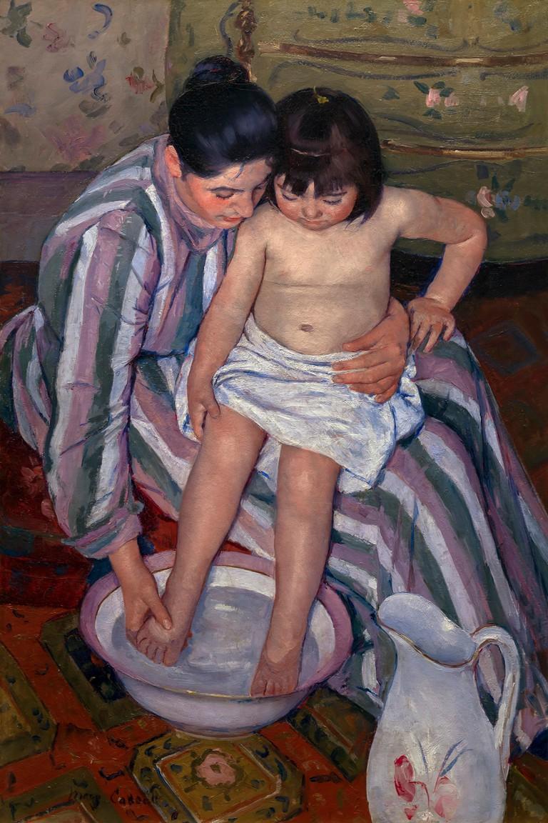 The Child's Bath, Mary Cassatt, 1893, Art Institute of Chicago, Chicago, Illinois, USA, North America