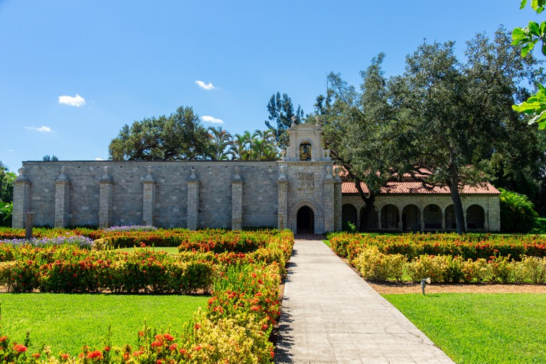 St. Bernard de Clairvaux Church, a 12th century Spanish monastery - North Miami Beach, Florida, USA