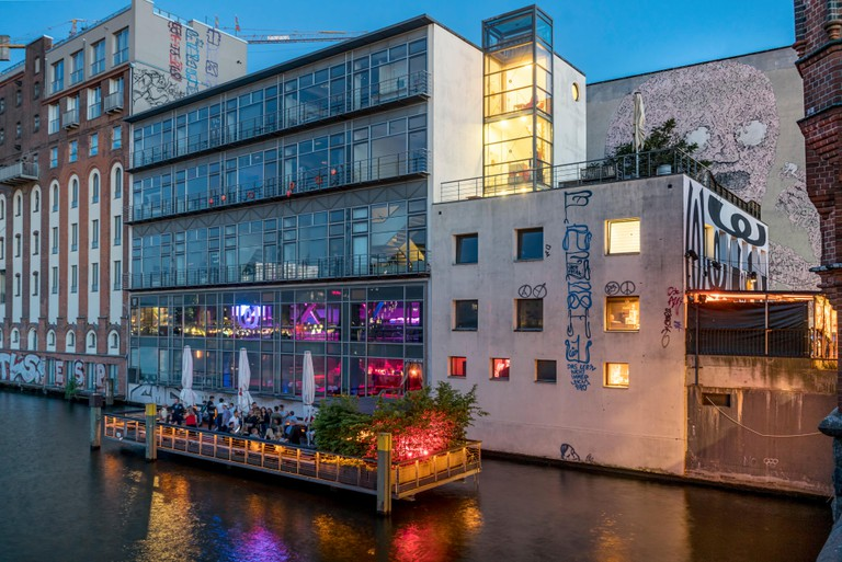 Watergate Club on river Spree, Berlin, Germany.