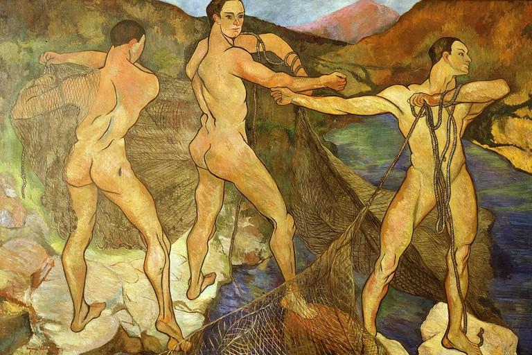 Suzanne Valadon, 'Les Lanceurs de Filet', 1914