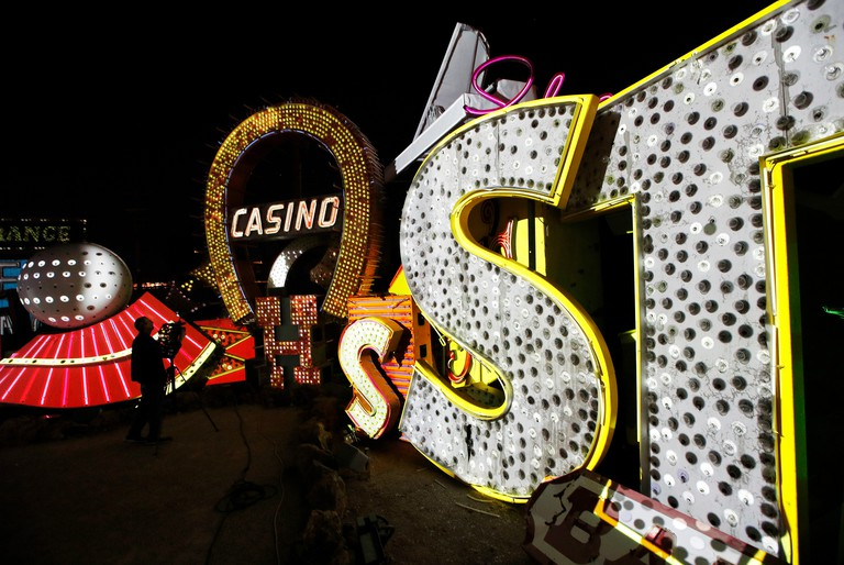 Neon Museum in Las Vegas. Starting this week, visitors will be able to see many of the city's classic neon signs just like they were decades ago through a type of augmented reality that projects realistic animations onto the non-working signs.