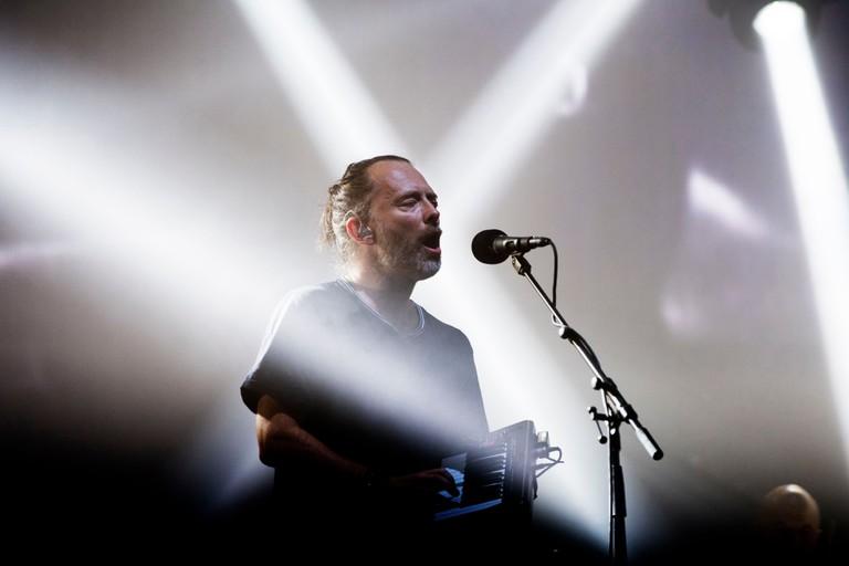 Thom Yorke Headlines On The Pyramid Stage With Radiohead At Glastonbury Festival 2017 Worthy Farm Pilton.