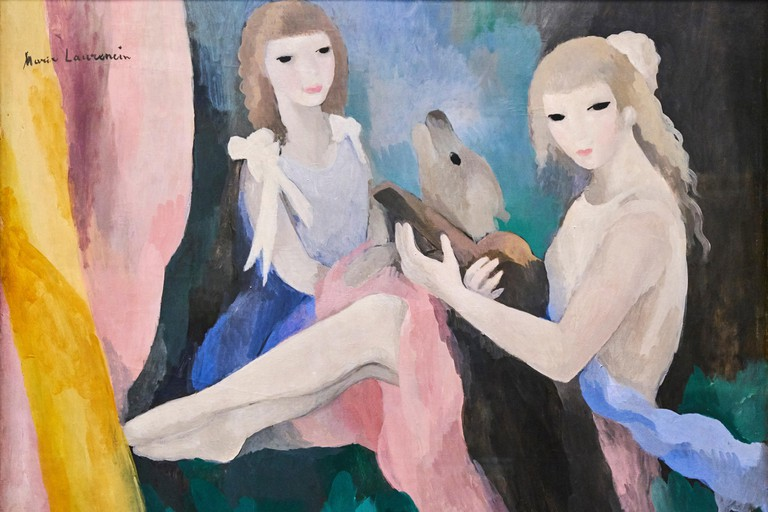 France, Paris, les Tuileries, museum of Orangerie, Femmes au chien by Marie Laurencin, 1924