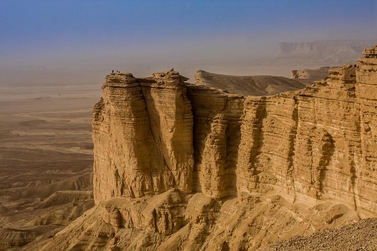 Edge of the World, a popular tourist destination near Riyadh, Saudi Arabia