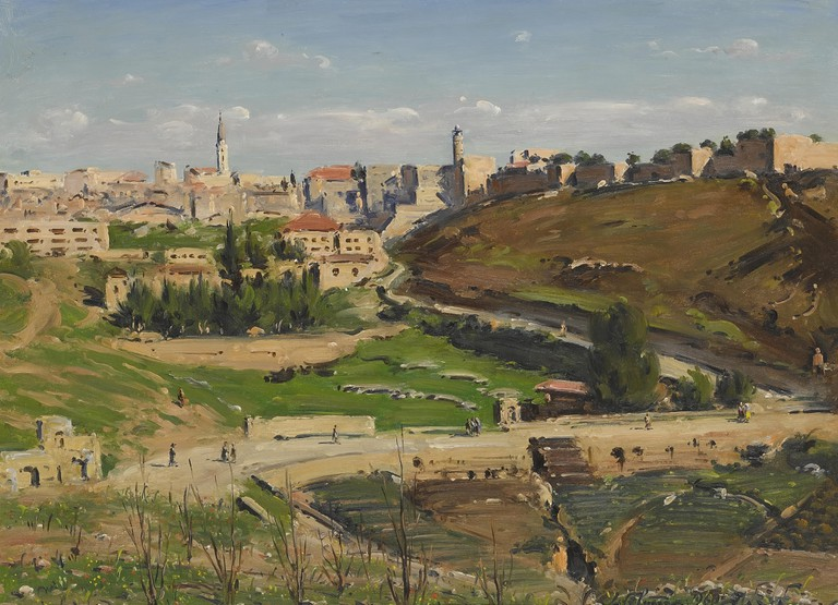 Ludwig Blum-View Of Jerusalem