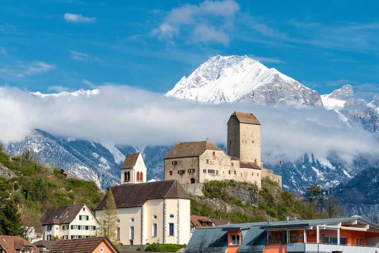 Sargans Castle in St. Gallen, Switzerland.