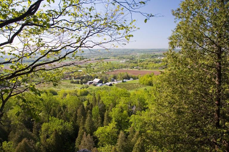 Farm country in Milton, Canada.