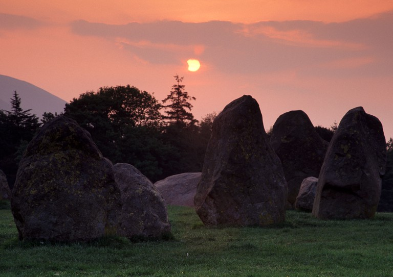 Castlerigg Summer solstice eclipse Cumbria, Lake district National Park
