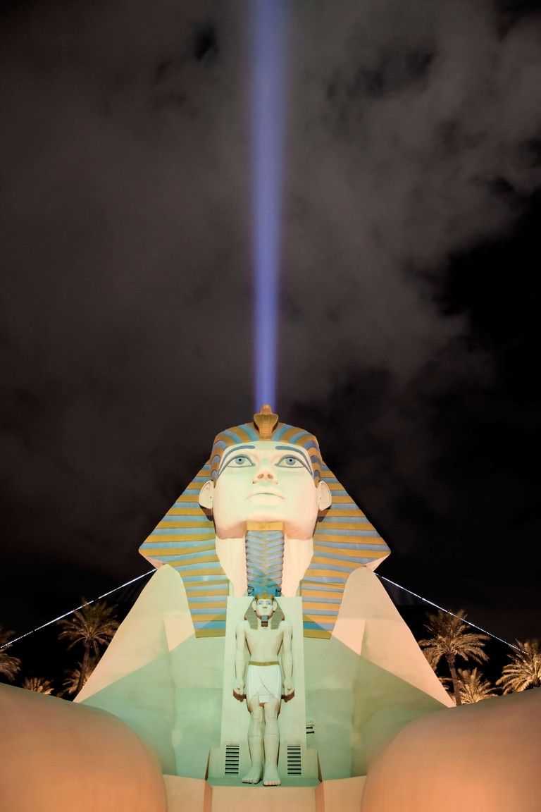 The Luxor complex and beam