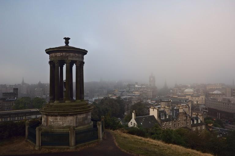 Calton Hill Dugald Stewart Monument, Edinburgh