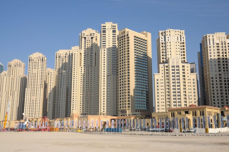Jumeirah Beach Residence in Dubai, United Arab Emirates.