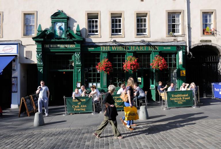 The White Hart Inn is one of Edinburgh's oldest pubs