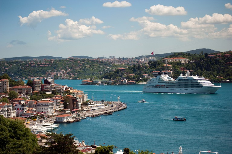 Scenic view of Arnavutkoy and Bosphorus Istanbul Turkey