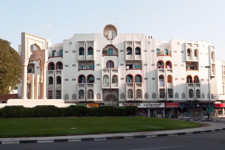 United Arab Emirates, Dubai, Bur Dubai, apartment complex