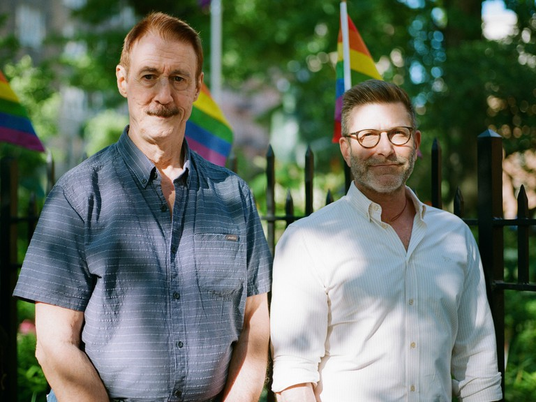 Jay Shockley (left) and Ken Lustbader are co-directors of the New York City LGBT Historic Sites Project