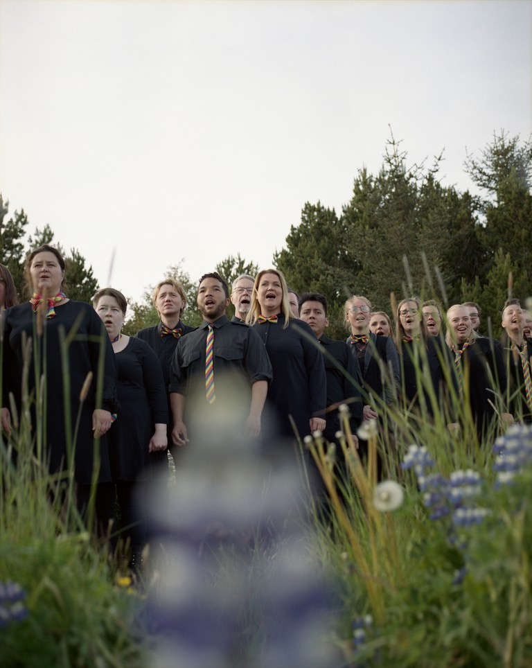 The choir participates in Reykjavik Pride every year
