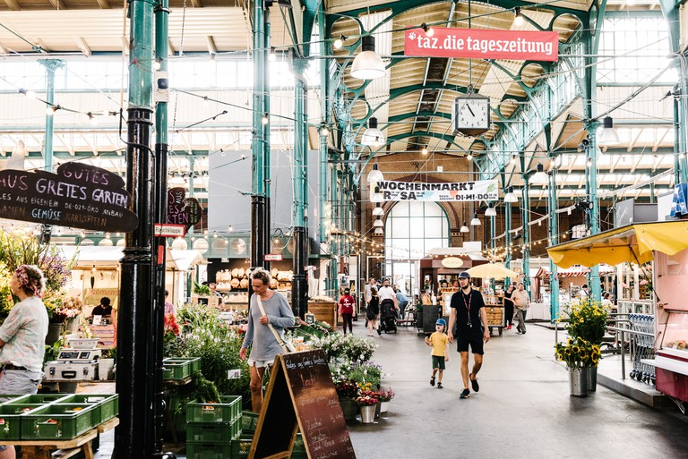 Markthalle Neun in Berlin, one of Evgeny's favourite places for goods and ingredients