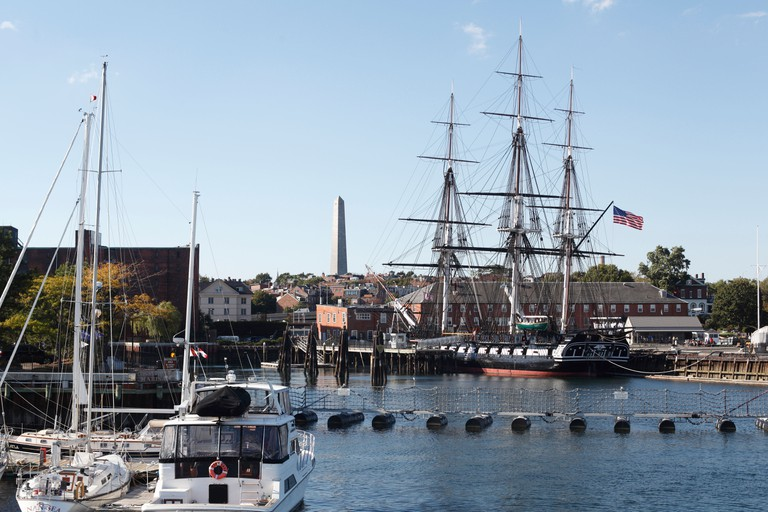 The USS Constitution At The Charlestown Naval Yard, Boston Massachusetts.