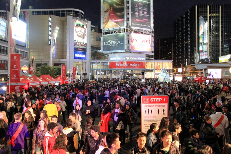 Toronto Nuit Blanche Crowd