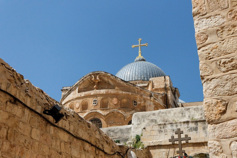 Dome of the Church of the Holy Sepulchre in Jerusalem Old City