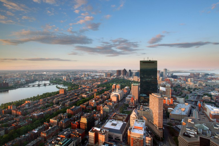 Top of the Hub - Aerial view of downtown Boston