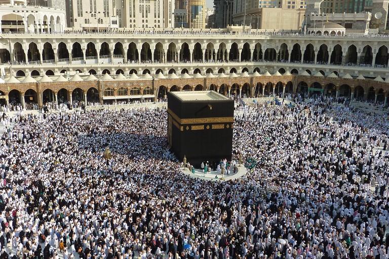 Worshippers at Mecca in Saudi Arabia